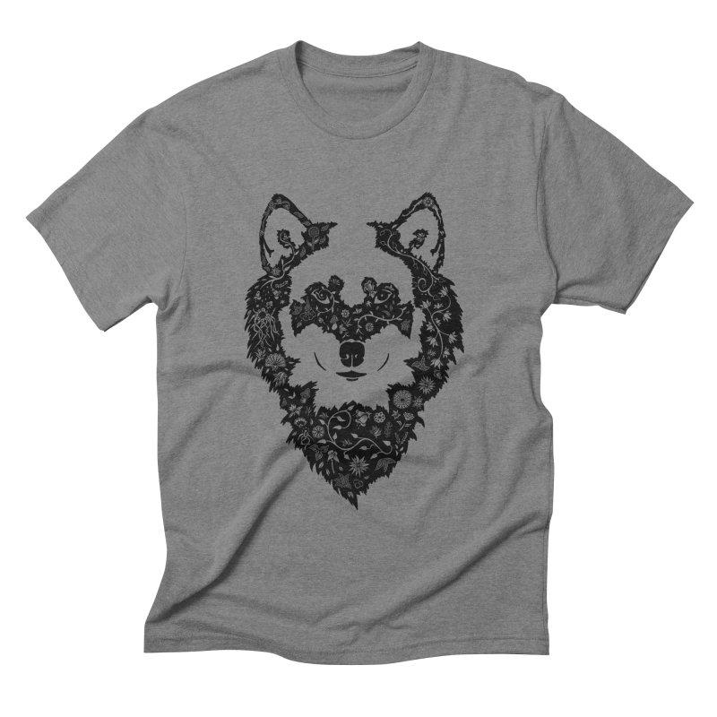 Wolf Men's Triblend T-shirt by Ad Eggermont's Artist Shop