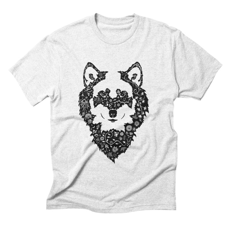 Wolf Men's Triblend T-shirt by Ad Eggermont's Artist Shop