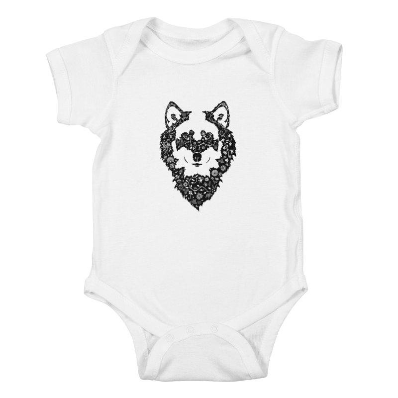 Wolf Kids Baby Bodysuit by Ad Eggermont's Artist Shop
