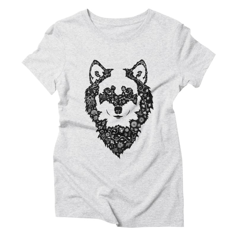 Wolf Women's Triblend T-Shirt by Ad Eggermont's Artist Shop