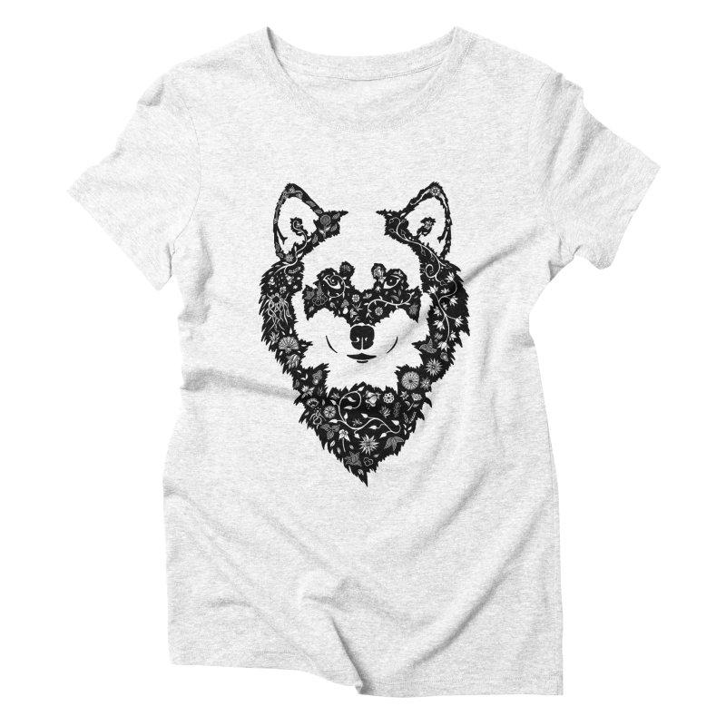 Wolf Women's Triblend T-shirt by Ad Eggermont's Artist Shop