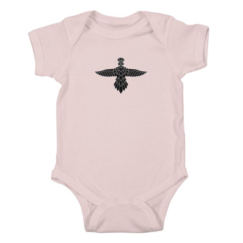 Bird Kids Baby Bodysuit by Ad Eggermont's Artist Shop