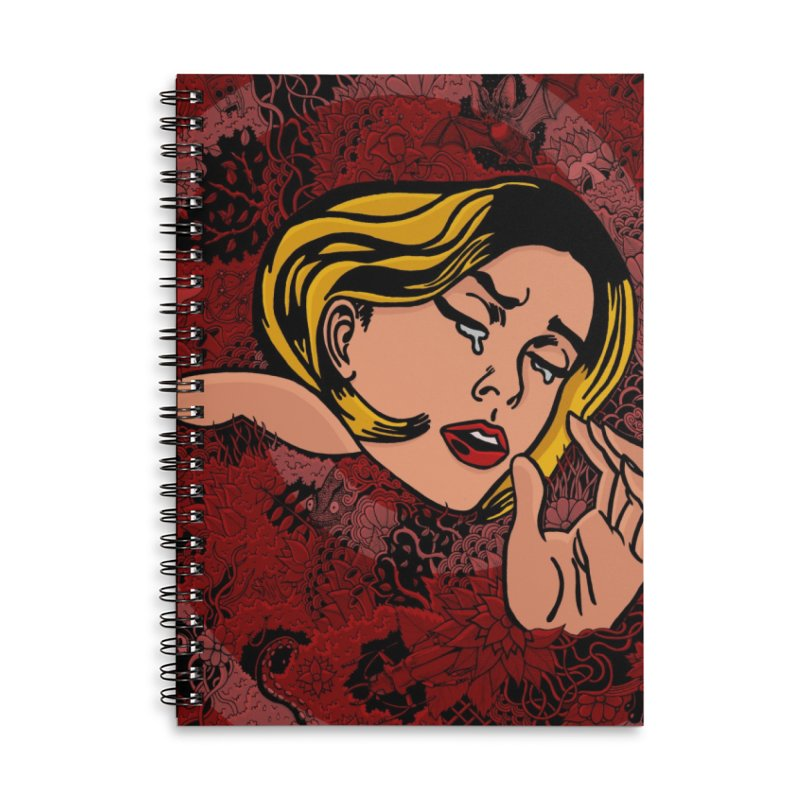 Sleepless Nights Accessories Lined Spiral Notebook by Ad Eggermont's Artist Shop