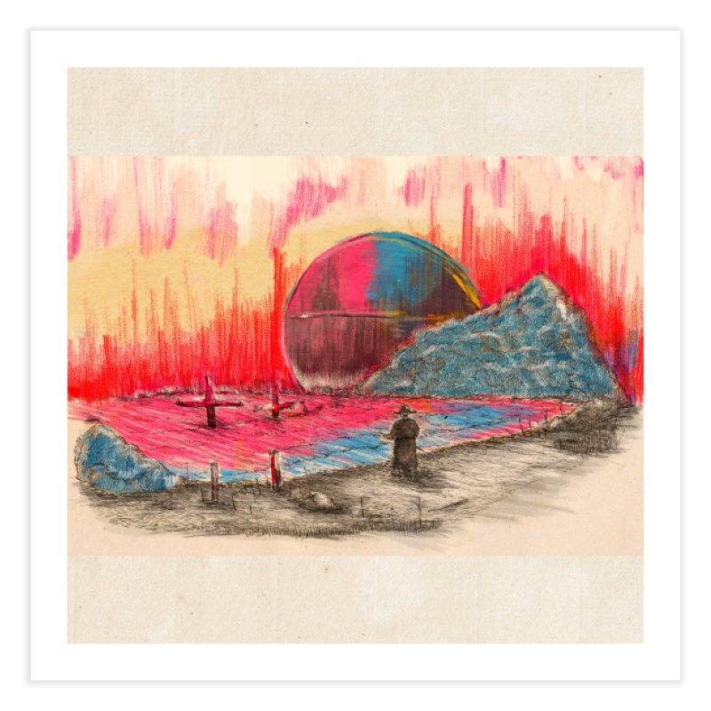 Sunset Home Fine Art Print by adelaidoolea's Artist Shop