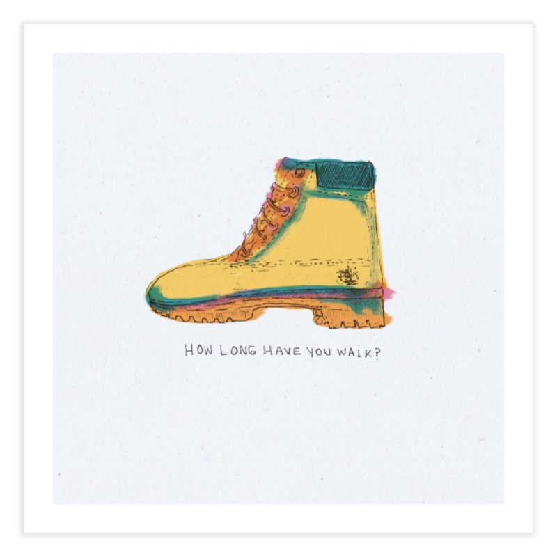 How long have you walk? Home Fine Art Print by adelaidoolea's Artist Shop