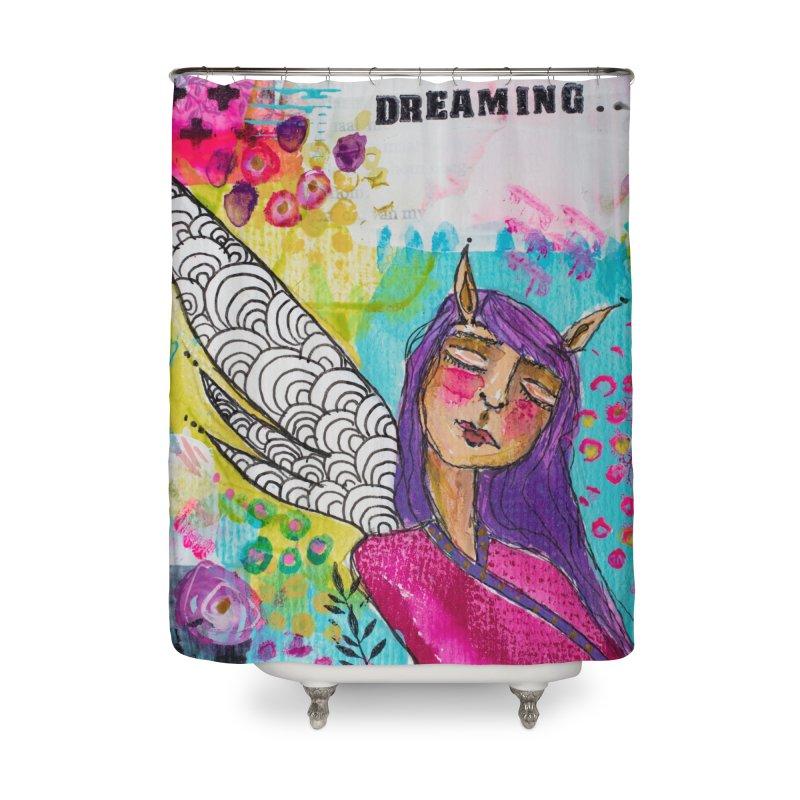 Never stop dreaming Home Shower Curtain by adelien de wet's Artist Shop