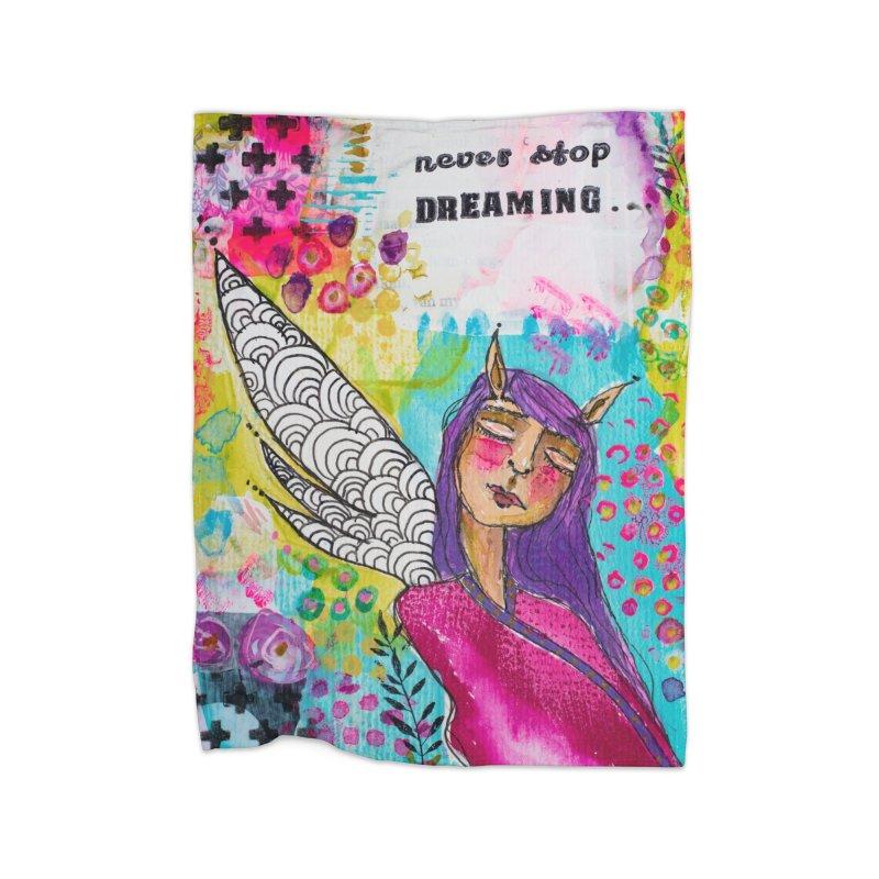 Never stop dreaming Home Blanket by adelien de wet's Artist Shop