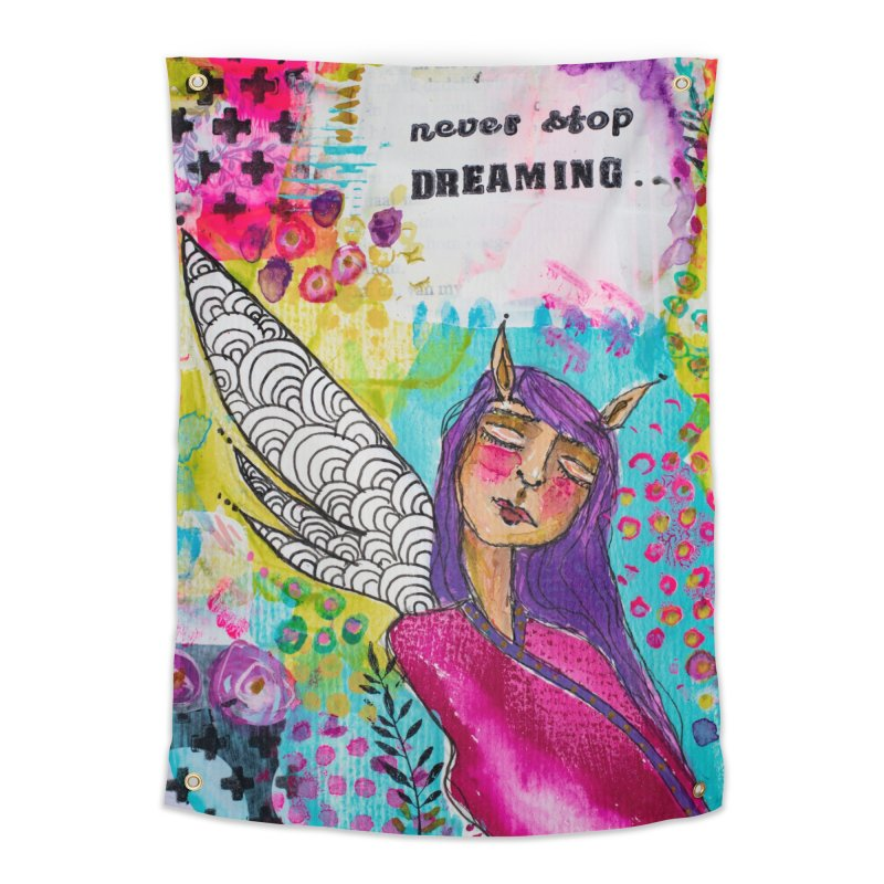 Never stop dreaming Home Tapestry by adelien de wet's Artist Shop