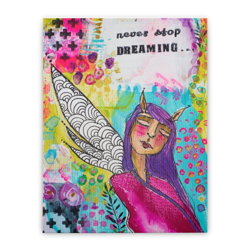Never stop dreaming Home Stretched Canvas by adelien de wet's Artist Shop
