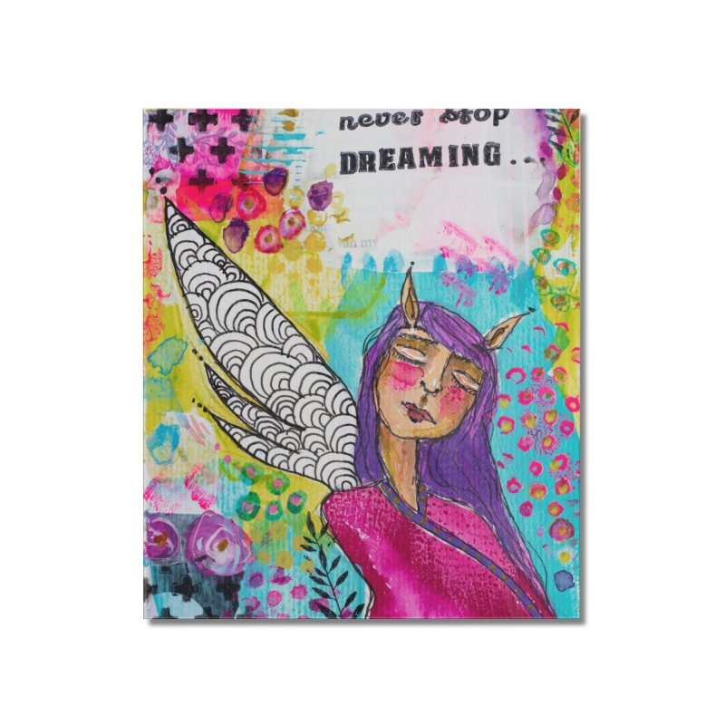 Never stop dreaming Home Mounted Acrylic Print by adelien de wet's Artist Shop