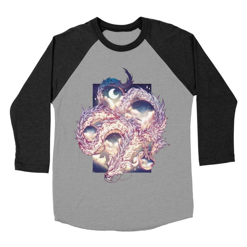 Falcor the Luck Dragon Men's Baseball Triblend Longsleeve T-Shirt by AdeptGamer's Merchandise