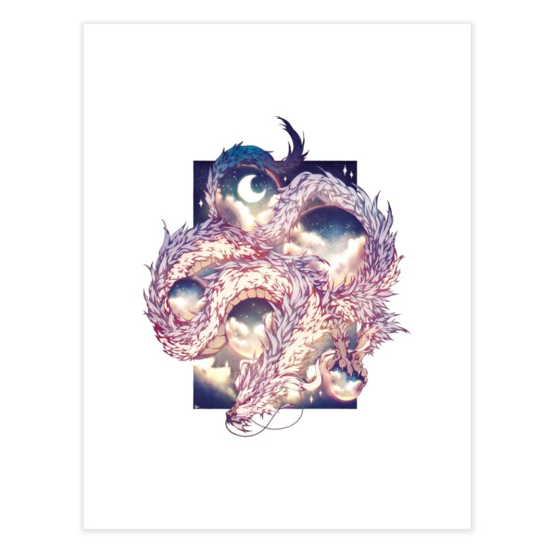 Falcor the Luck Dragon Home Fine Art Print by AdeptGamer's Merchandise