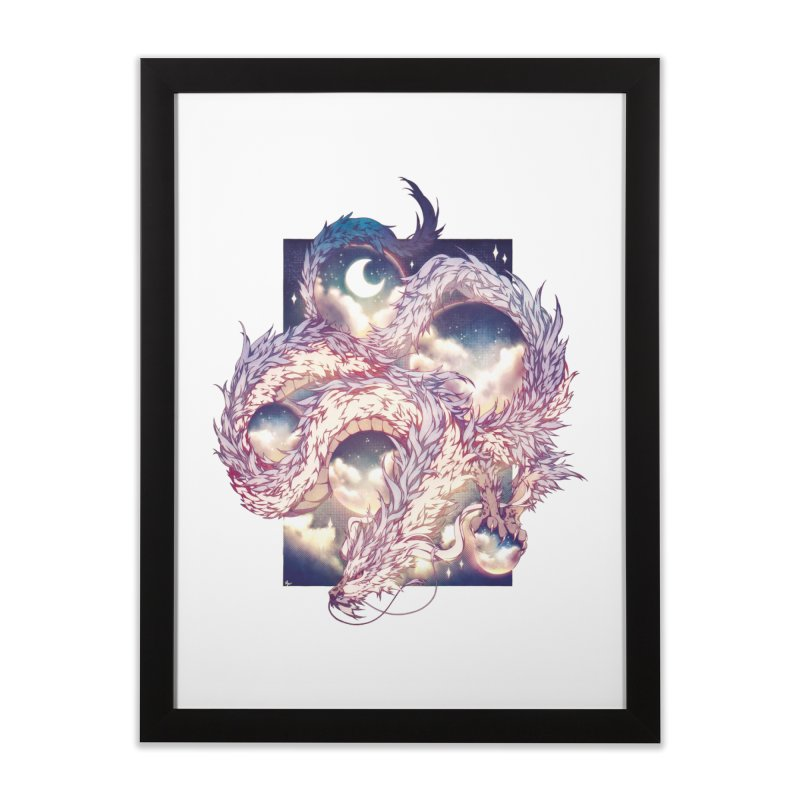 Falcor the Luck Dragon Home Framed Fine Art Print by AdeptGamer's Merchandise