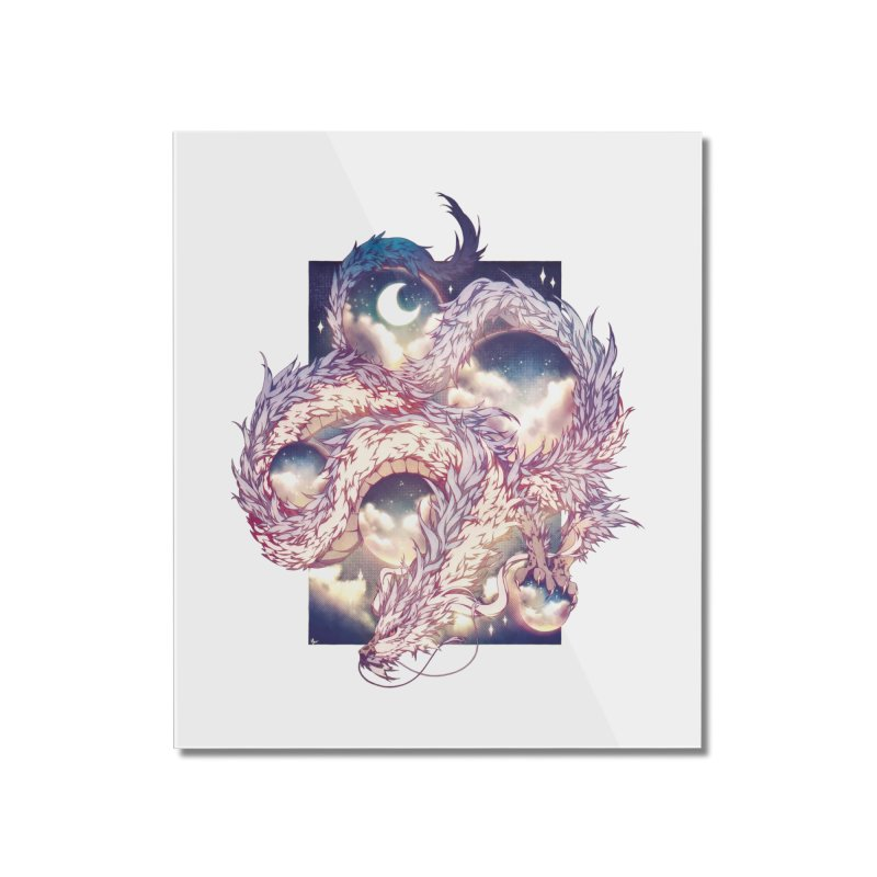 Falcor the Luck Dragon Home Mounted Acrylic Print by AdeptGamer's Merchandise