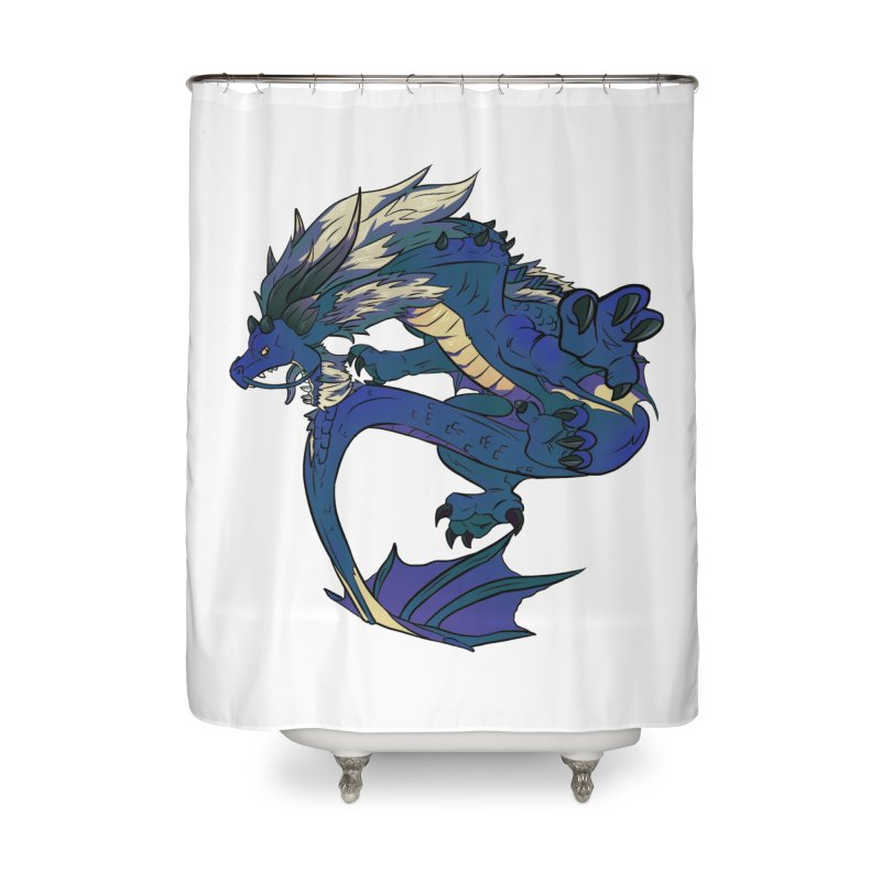 Sapphire Fortune Home Shower Curtain by AdeptGamer's Merchandise