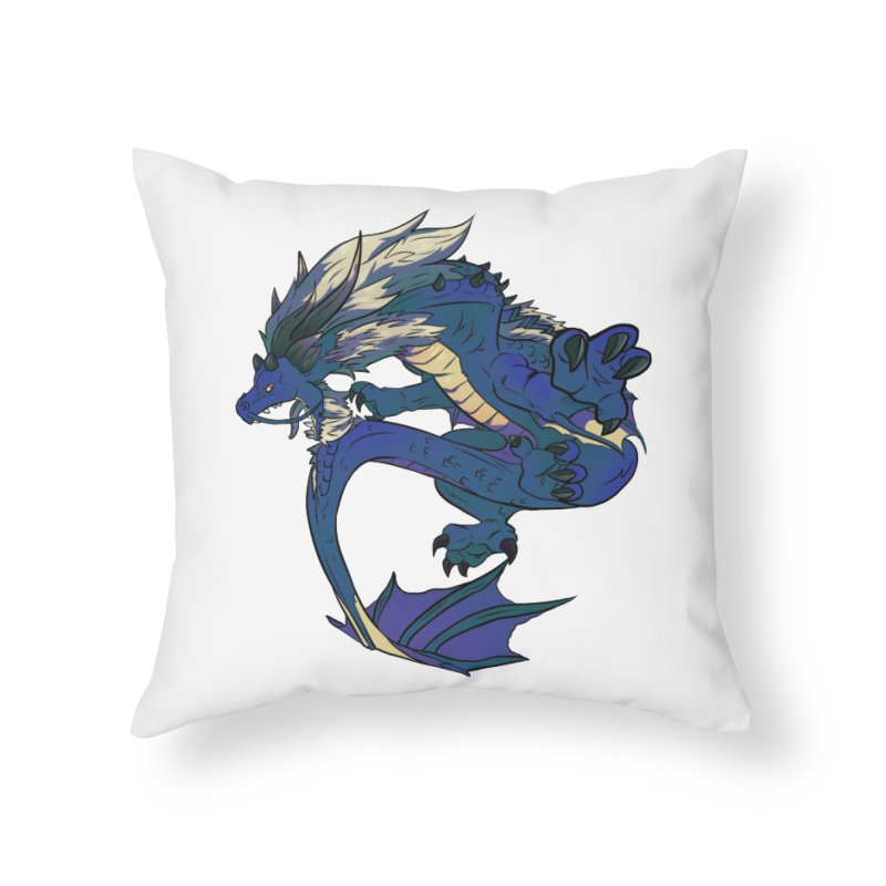 Sapphire Fortune Home Throw Pillow by AdeptGamer's Merchandise