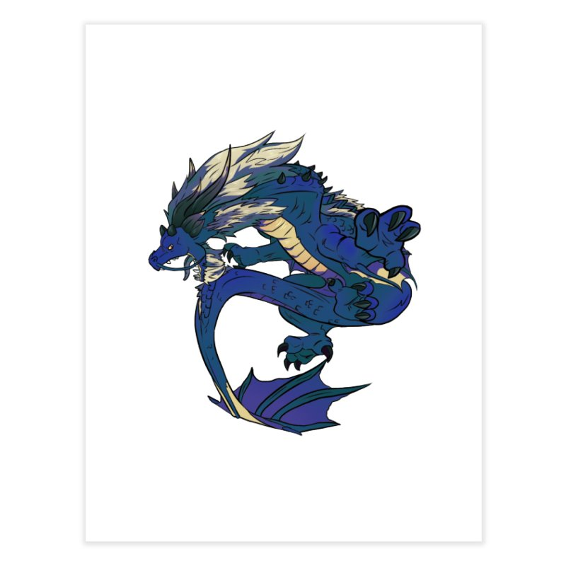 Sapphire Fortune Home Fine Art Print by AdeptGamer's Merchandise