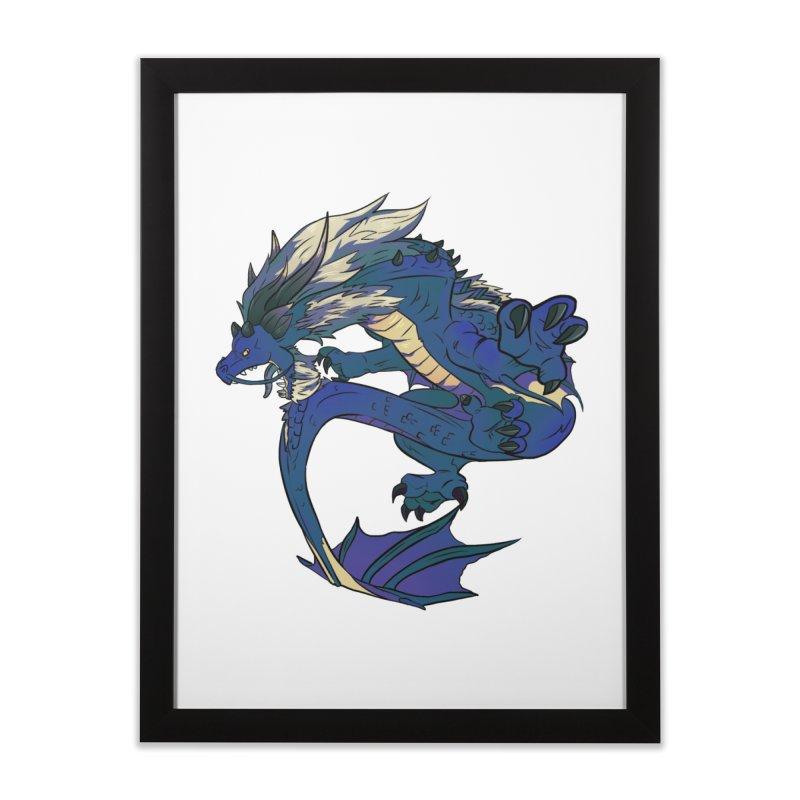 Sapphire Fortune Home Framed Fine Art Print by AdeptGamer's Merchandise