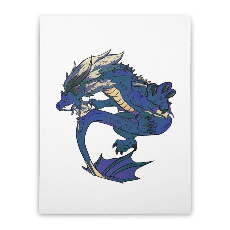 Sapphire Fortune Home Stretched Canvas by AdeptGamer's Merchandise
