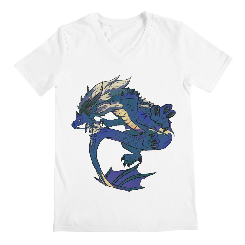 Sapphire Fortune Men's V-Neck by AdeptGamer's Merchandise