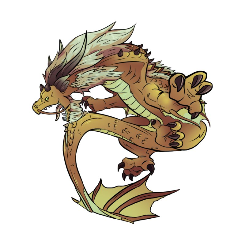 Fiveclaw Gold Dragon None  by AdeptGamer's Merchandise