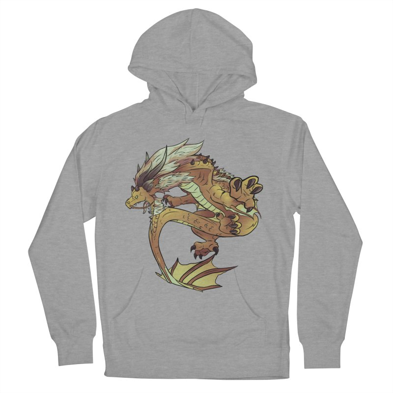 Fiveclaw Gold Dragon Women's Pullover Hoody by AdeptGamer's Merchandise