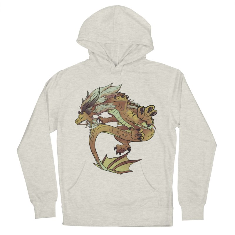 Fiveclaw Gold Dragon Men's Pullover Hoody by AdeptGamer's Merchandise