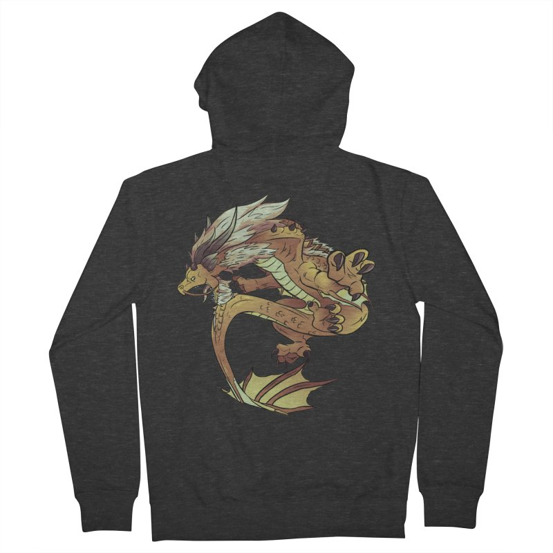 Fiveclaw Gold Dragon Men's Zip-Up Hoody by AdeptGamer's Merchandise