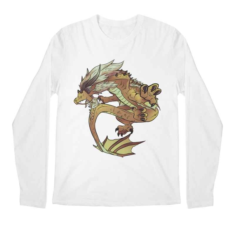 Fiveclaw Gold Dragon Men's Longsleeve T-Shirt by AdeptGamer's Merchandise