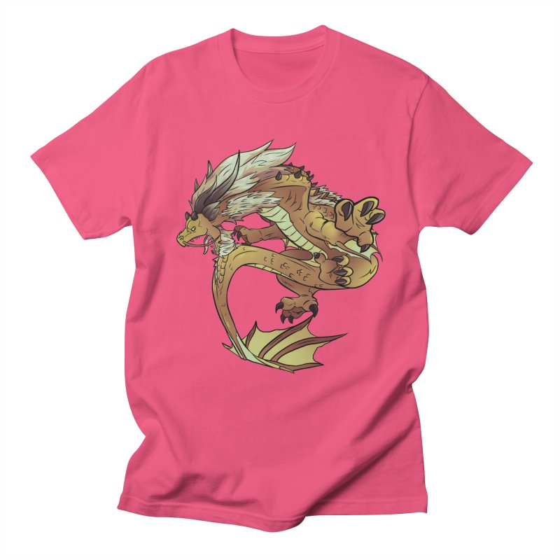 Fiveclaw Gold Dragon Men's T-shirt by AdeptGamer's Merchandise