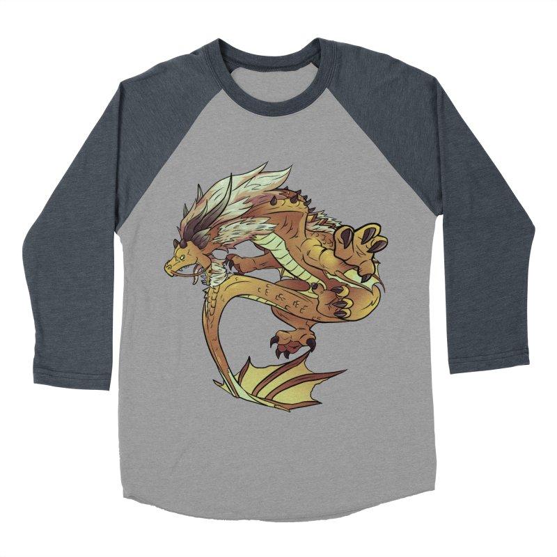 Fiveclaw Gold Dragon Women's Baseball Triblend T-Shirt by AdeptGamer's Merchandise