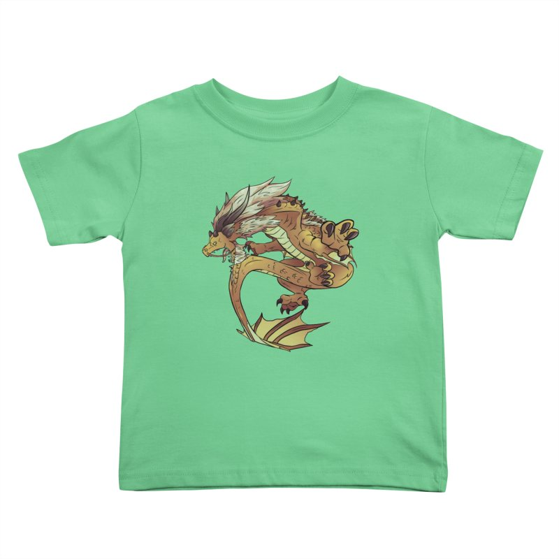 Fiveclaw Gold Dragon Kids Toddler T-Shirt by AdeptGamer's Merchandise