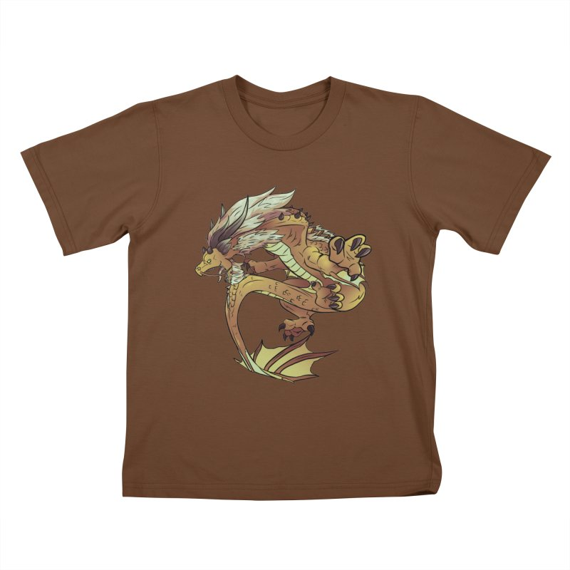 Fiveclaw Gold Dragon Kids T-shirt by AdeptGamer's Merchandise