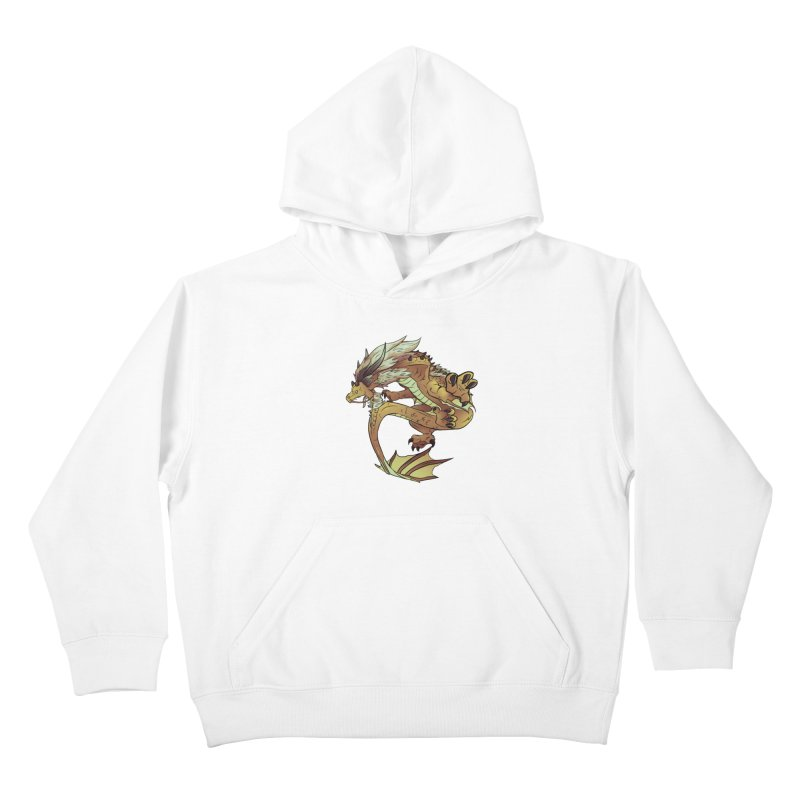 Fiveclaw Gold Dragon Kids Pullover Hoody by AdeptGamer's Merchandise