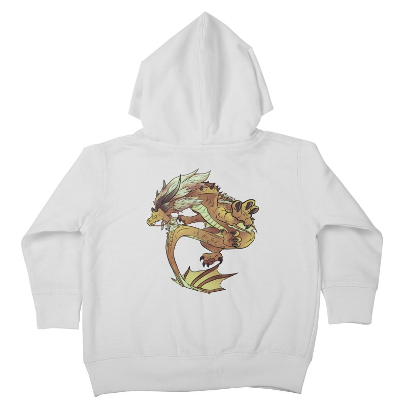 Fiveclaw Gold Dragon Kids Toddler Zip-Up Hoody by AdeptGamer's Merchandise