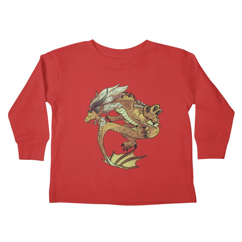 Fiveclaw Gold Dragon Kids Toddler Longsleeve T-Shirt by AdeptGamer's Merchandise
