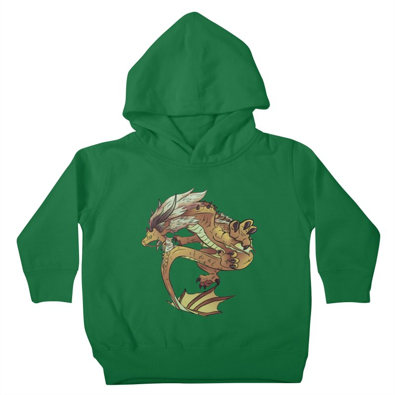 Fiveclaw Gold Dragon Kids Toddler Pullover Hoody by AdeptGamer's Merchandise