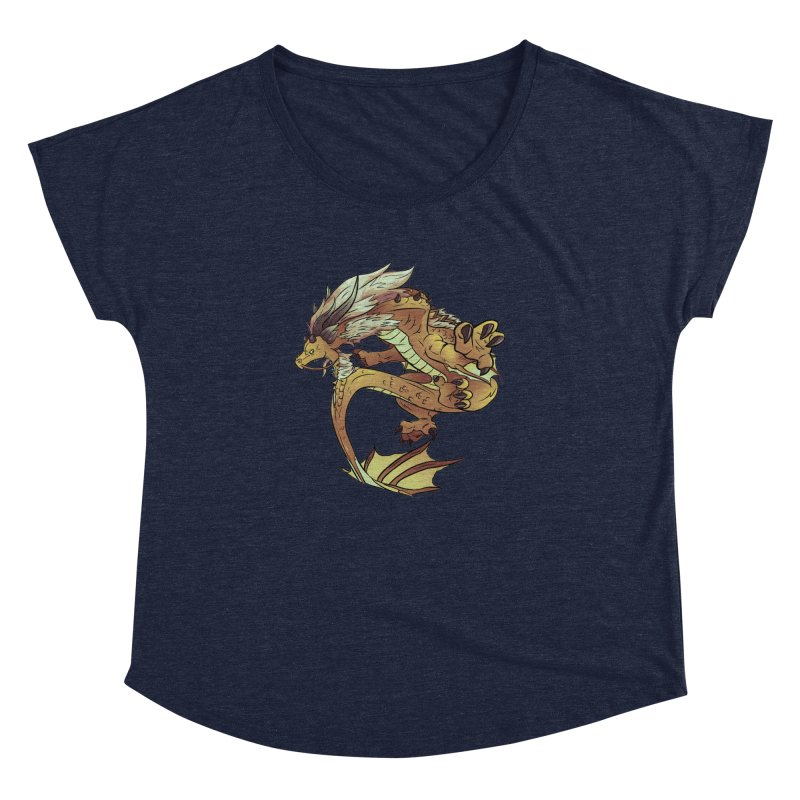 Fiveclaw Gold Dragon Women's Dolman by AdeptGamer's Merchandise