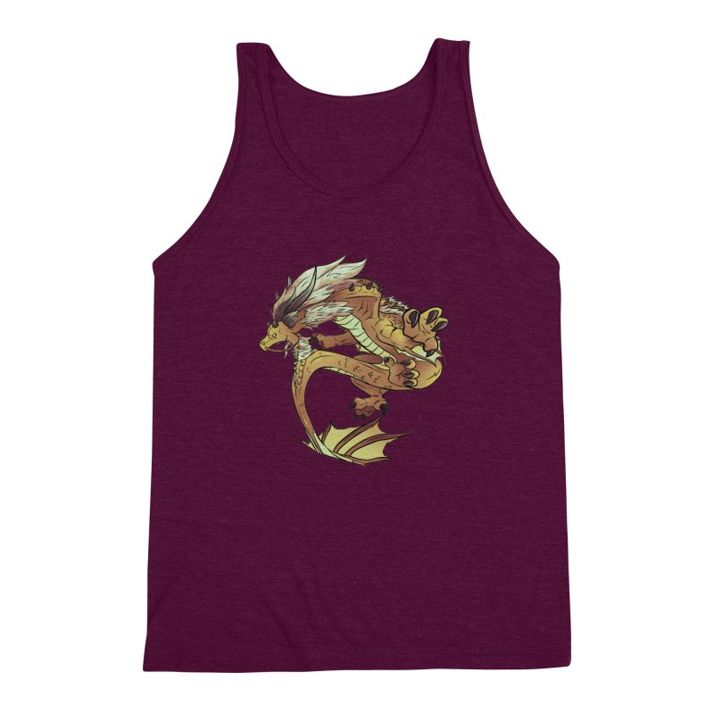 Fiveclaw Gold Dragon Men's Triblend Tank by AdeptGamer's Merchandise