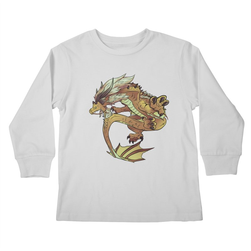 Fiveclaw Gold Dragon Kids Longsleeve T-Shirt by AdeptGamer's Merchandise