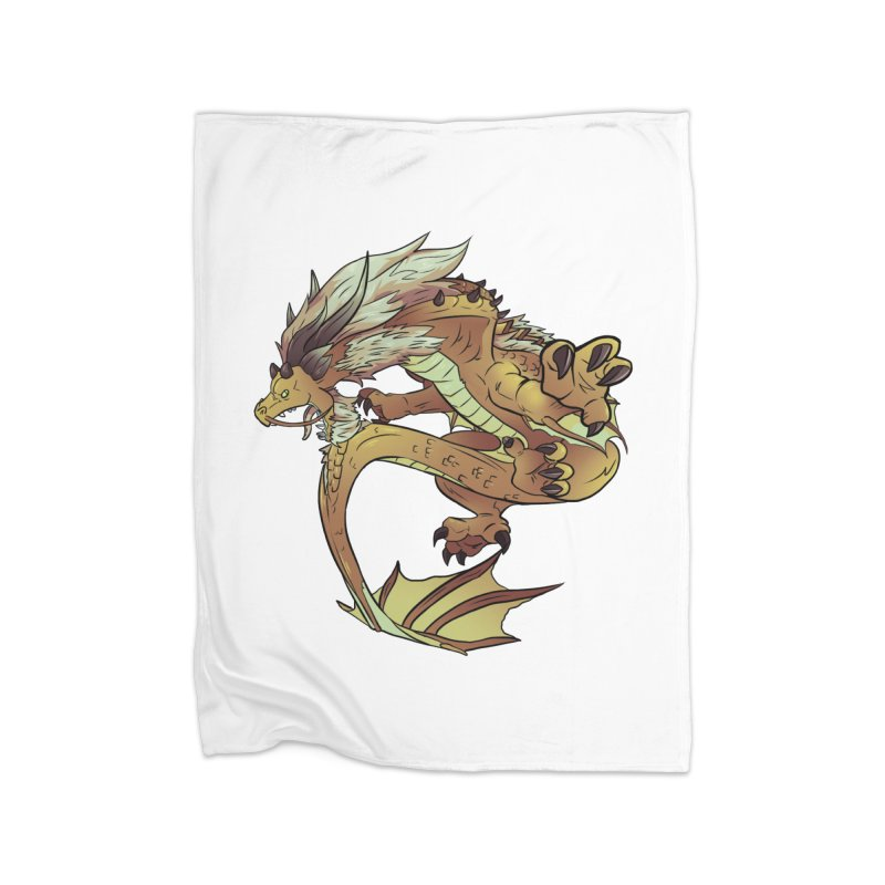 Fiveclaw Gold Dragon Home Blanket by AdeptGamer's Merchandise