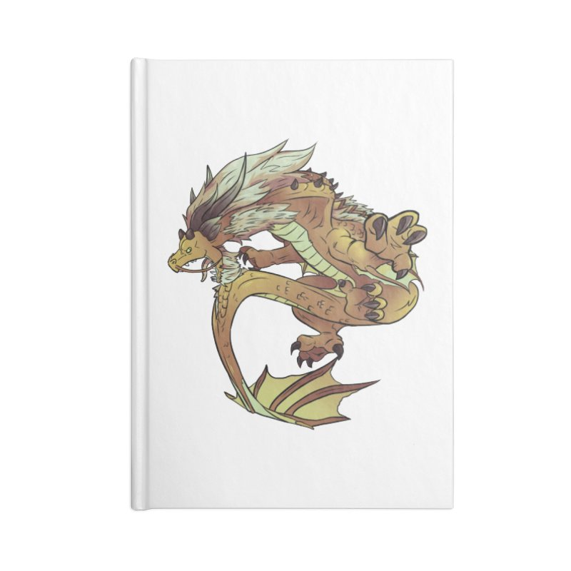 Fiveclaw Gold Dragon Accessories Notebook by AdeptGamer's Merchandise
