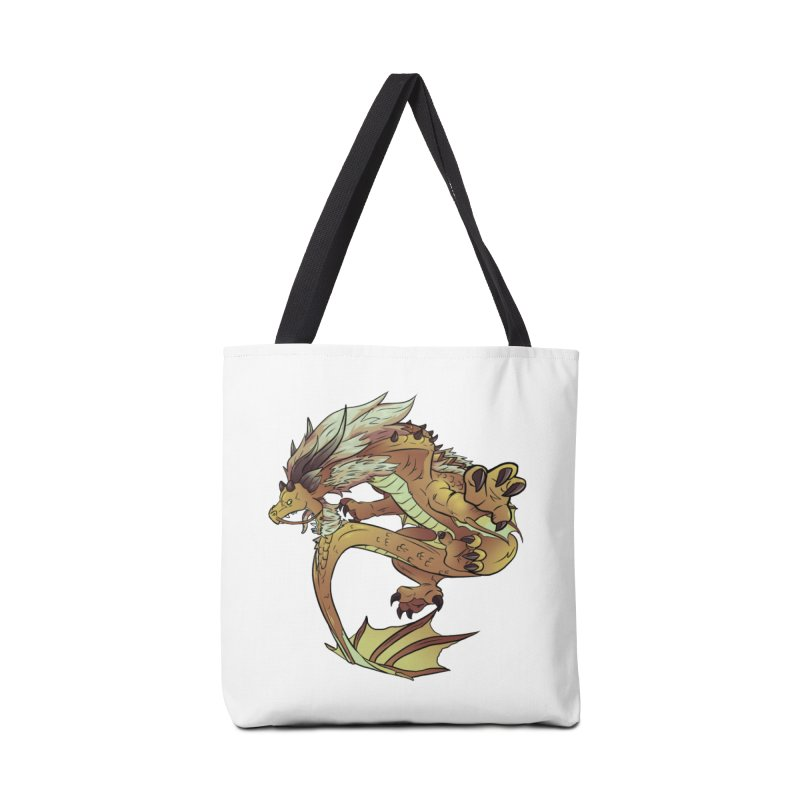 Fiveclaw Gold Dragon Accessories Bag by AdeptGamer's Merchandise