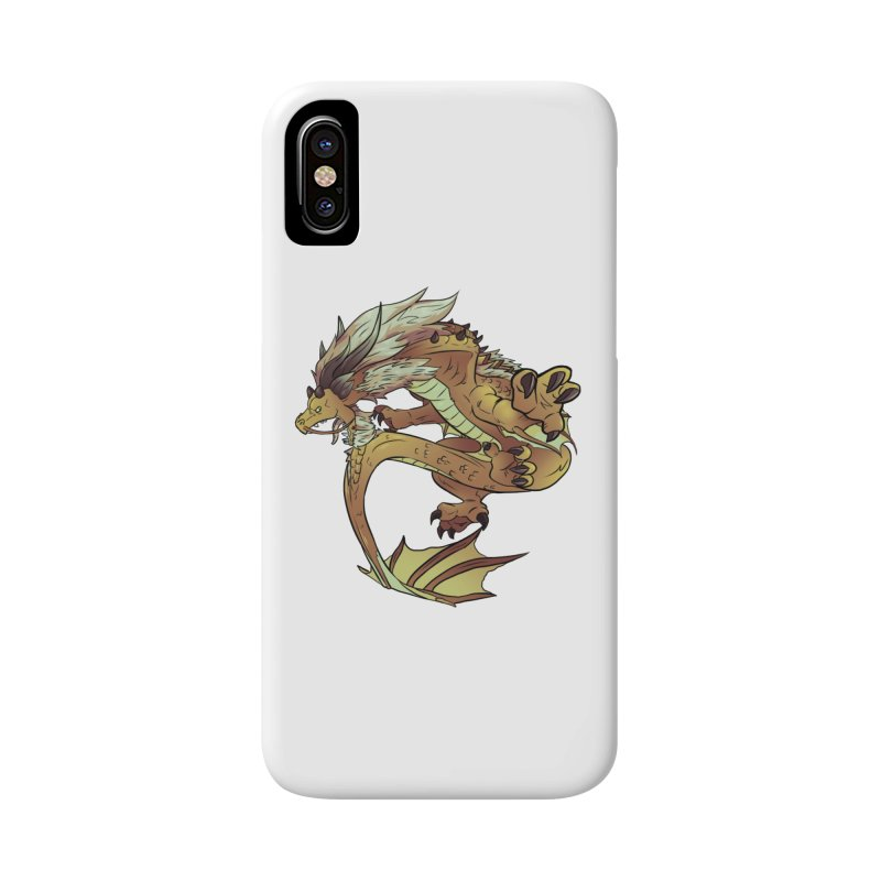 Fiveclaw Gold Dragon Accessories Phone Case by AdeptGamer's Merchandise