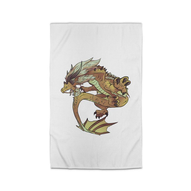 Fiveclaw Gold Dragon Home Rug by AdeptGamer's Merchandise