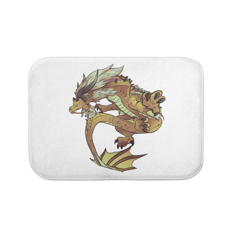 Fiveclaw Gold Dragon Home Bath Mat by AdeptGamer's Merchandise