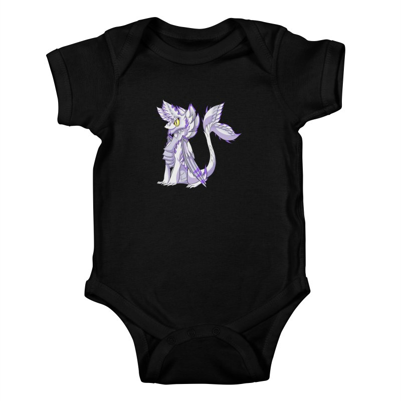 Ivory Shadow Kids Baby Bodysuit by AdeptGamer's Merchandise