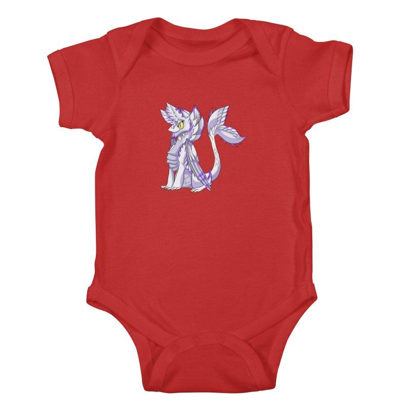 Ivory Shadow Kids Baby Bodysuit by AdeptGamer's Merchandise