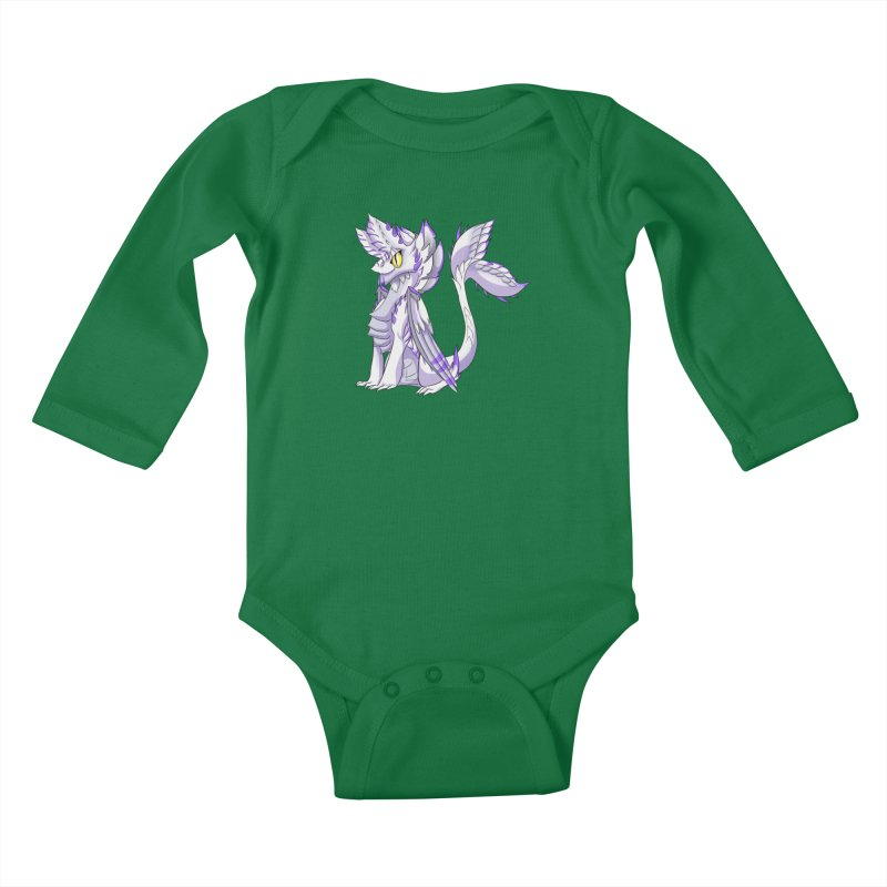 Ivory Shadow Kids Baby Longsleeve Bodysuit by AdeptGamer's Merchandise