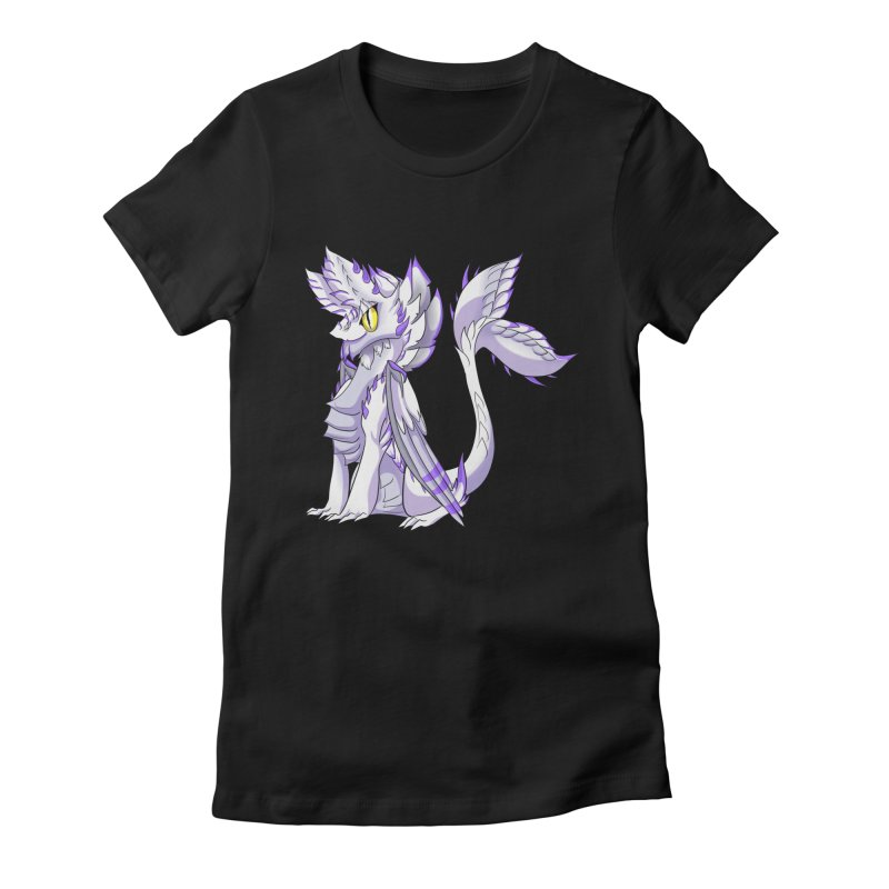 Ivory Shadow Women's Fitted T-Shirt by AdeptGamer's Merchandise